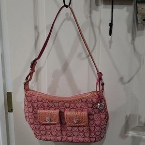 Brighton pink hearts purse